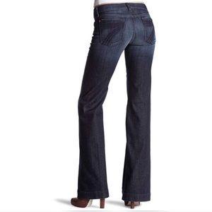 7FAM Dojo Wide Leg Dark Wash Jeans 26